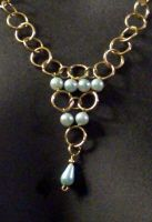 Gold Chains with Aqua Pearls 2 by MorganCrone