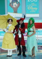 Jane, Captain Hook, and Mother Nature at D23 2013 by trivto