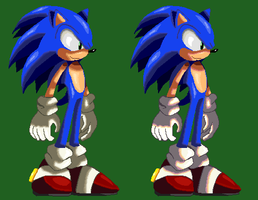 Sonic XII Style Sprite by ss2sonic