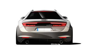 AUDI Q1 QUATTRO CONCEPT REAR VIEW by JB-95