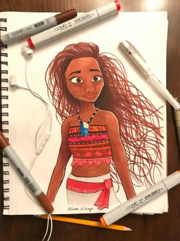 Disney Moana Colored by Queen-of-Magic-32303