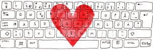 I'm typing I love you. by Hanna-Pirita