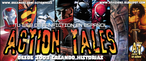 Cabecera web ACTION TALES by galeriaatomica