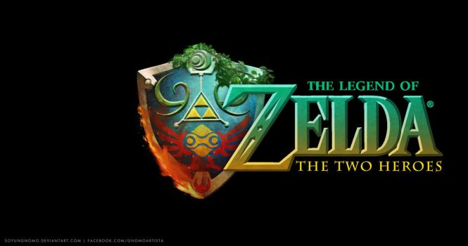 The Legend of Zelda The Two Heroes Logo by SoyUnGnomo