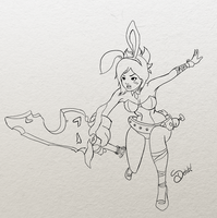 Battle Bunny Riven - Lines by dehblee
