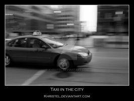 Taxi in the City by Khristel