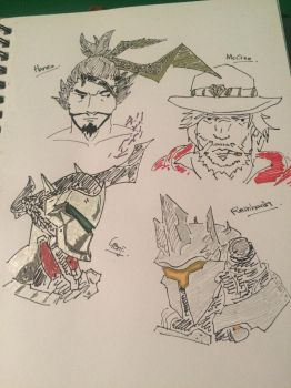 Overwatch doodles part 1 by SoularWolf4