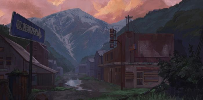 abandoned town by blueavel
