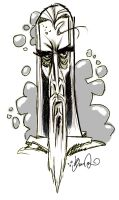 Saruman Quick Sketch by Bane-the-Jester