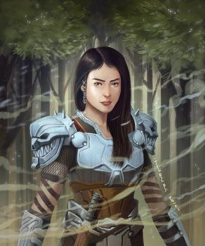 Woman Warrior #2 By Han 2016  by papillonstudio