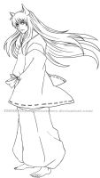 Inuyasha-lineart by Roots-Love