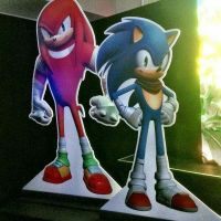 Sonic and knuckles design in Sonic boom by AzurBlueStar