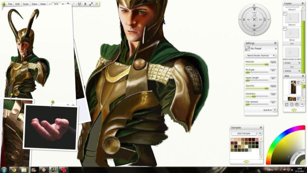 Desktop Screenshot - Loki WIP by Kulibrnda