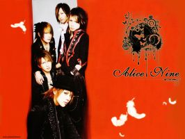 alice nine - akai wallpaper. by noirsama