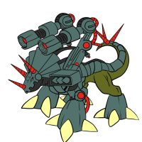 Metal Triceramon by Medral