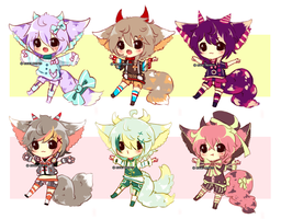 Emergency Adopts - Little Chimeras - CLOSED by Ayuki-Shura-Nyan