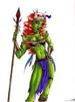 Orc Lady by pUmpkinhead666