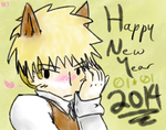 AoT/SnK: New Year 2014 by Hetaotaku17