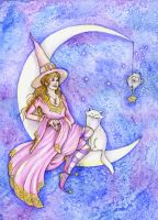 Moon Witch by Maria-van-Bruggen
