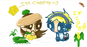 Blue And Tigah On iScribble o__o by ITBluebeadTI