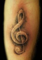 Custom stone treble clef by hatefulss