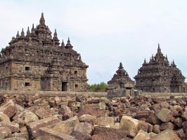 Twin Plaosan Temples by vidka