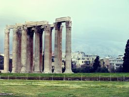 Temple of Olympian Zeus by clouded-ambition