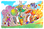 Four Colorful Heroes by super-tuler