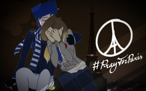 #PrayForParis - Gale and Francesca by VanadiumValor