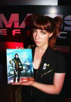 Scraps: Jessica Merizan receives her print at SDCC by koobismo