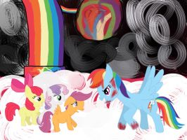 In the Rainbow Factory by catz537