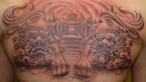 foo dogs by jasonvogttattoo