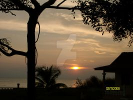 Sunset in Malacca by fire-doused