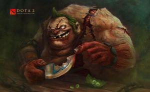 Dota 2 Fan art - Pudge's new friend! by diogocarneiro
