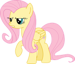 Fluttershy serious vector by Pangbot