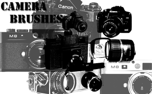 Camera brushes by Azzakocha