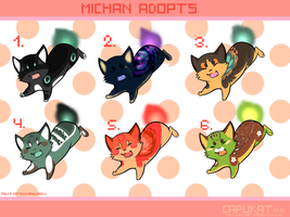 Michan adoptables- CLOSED by Capukat