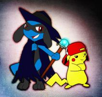 Riolu And Pikachu All Dressed Up! by Echorilec