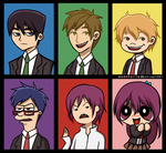 Free!: Different Styles Redraw by medatelle