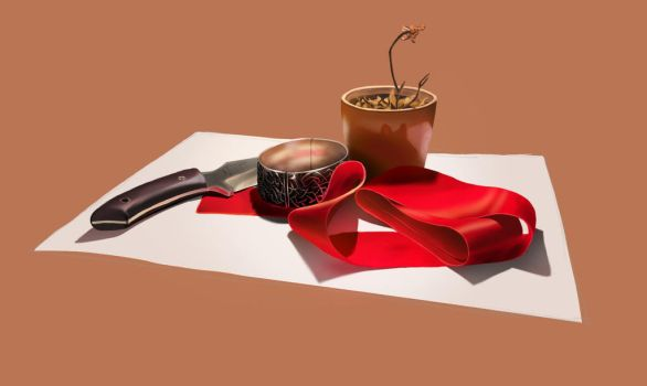 Stillife, very first try with Wacom tablet by brianspilner