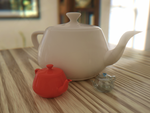Teapots on Table by sin1stercut