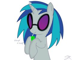 Vinyl Scratch with juice box by Spitshy