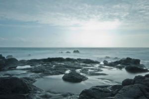 Mirror Sea Background Stock by little-spacey