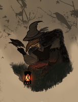 The Crow Druid by Kotorchix