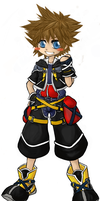 Kingdom Hearts chibis: Sora :D by blackroses66