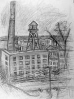 Outdoor sketch 1 view from Church Hill RVA by rawjawbone