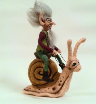 Snail Rider by HeartfeltCreations