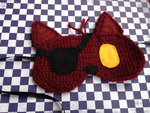 Crochet Foxy sleep mask by tails267209
