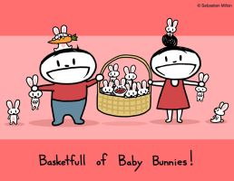 Basketfull of Baby Bunnies by sebreg