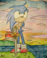 Sonic with Caliburn by still-a-fan